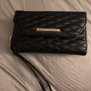 Rebecca Minkoff Quilted Zip Leather Wallet Monroe